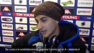 Giuseppe De Luca e la soddisfazione di aver realizzato il primo gol in serie A