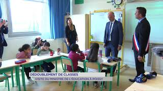 Dédoublements de classes: Visite du Ministre de l'Education dans une école de Poissy