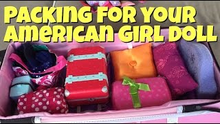 Packing for American Girl Doll Grace's Trip to Palm Springs