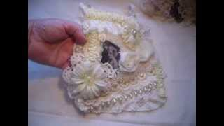 Two Altered Fabric Bags ....Vintage & Shabby Chic Style