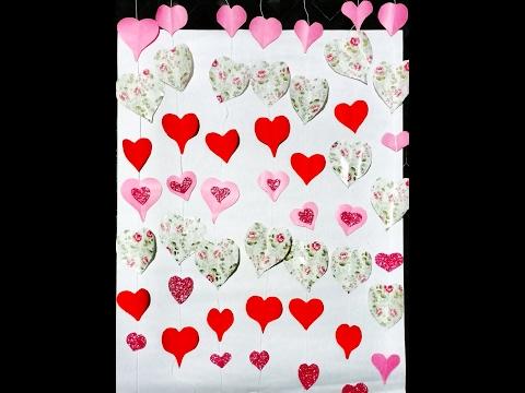 DIY Heart Curtains