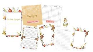 Moms Recipe Book - Printable PDF