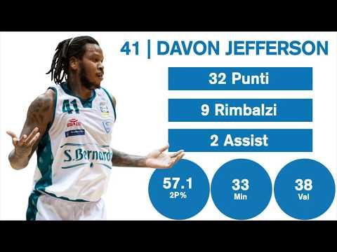 Gli Highlights Di Davon Jefferson Contro Reggio Emilia
