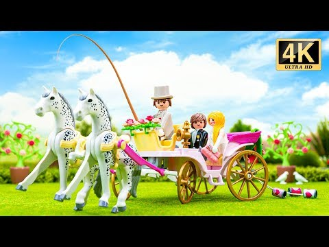 Playmobil City Life Wedding Carriage 9427 Toy Unboxing (4K)