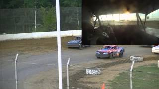 Dual camera GCS 7-1-12 Street Stock Feature with in car camera.