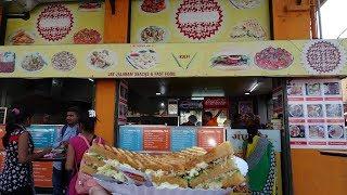 "Fully Loaded Triple Layer Mushroom Cheese Toast Sandwich + Indian Street Food ""BHEL""  Gangor Bardoli"