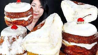 소리이상함 주의) 생크림 팡도르 몽블랑 치즈번 빵 디저…