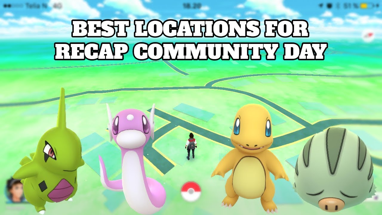 Download THE BEST LOCATIONS FOR THE RECAP COMMUNITY DAY IN POKEMON GO! High Spawn Rate!