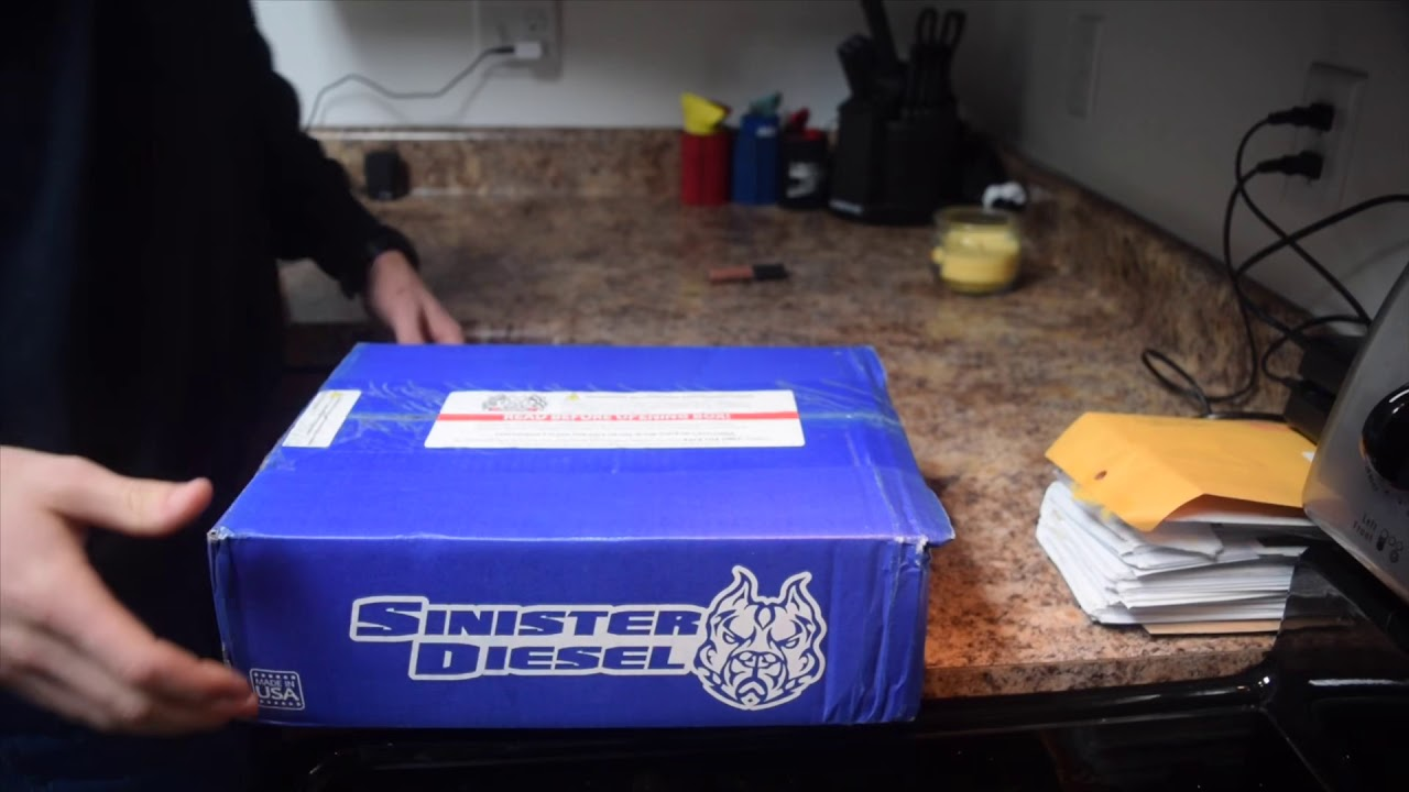 EGR delete kit unboxing! From sinister diesel!