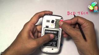Samsung Galaxy S Duos 2 (S7582) : How to insert SIM ?