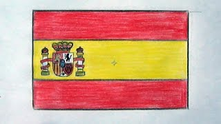 How to draw a Spain flag(Ehedov Elnur) Cómo dibujar una bandera de España