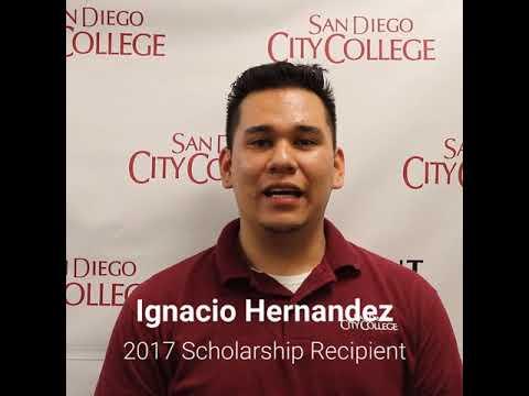 Friends of Downtown San Diego Scholarship recipient, Ignacio Hernandez, SD City College student