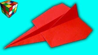 Как сделать САМОЛЕТ-ИСТРЕБИТЕЛЬ из бумаги. Самолет оригами своими руками. Поделки из бумаги