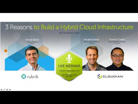 3 Reasons to Build a Hybrid Cloud Infrastructure with Rubrik & Cloudian