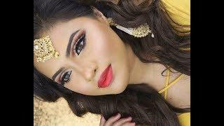 South Asian Bridal Makeup using Kryolan| Dramatic Eyes| Glamour Eid Makeup look