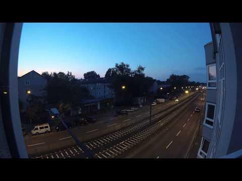 Frankfurt evacuation time-lapse Yi 4K 30 FPS