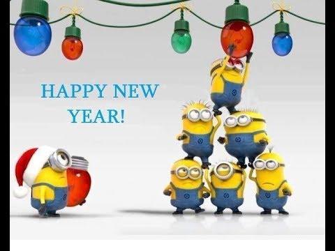 Image of: Funny Minion Minions Merry Christmas And Happy New Year 2018 Youtube Minions Merry Christmas And Happy New Year 2018 Youtube
