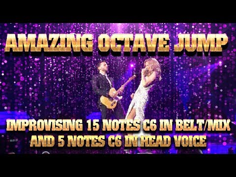 AMAZING Octave Jumps - Céline Dion Improvising 15 Notes C6 In Belt/Hit And 5 Notes C6 In Head Voice