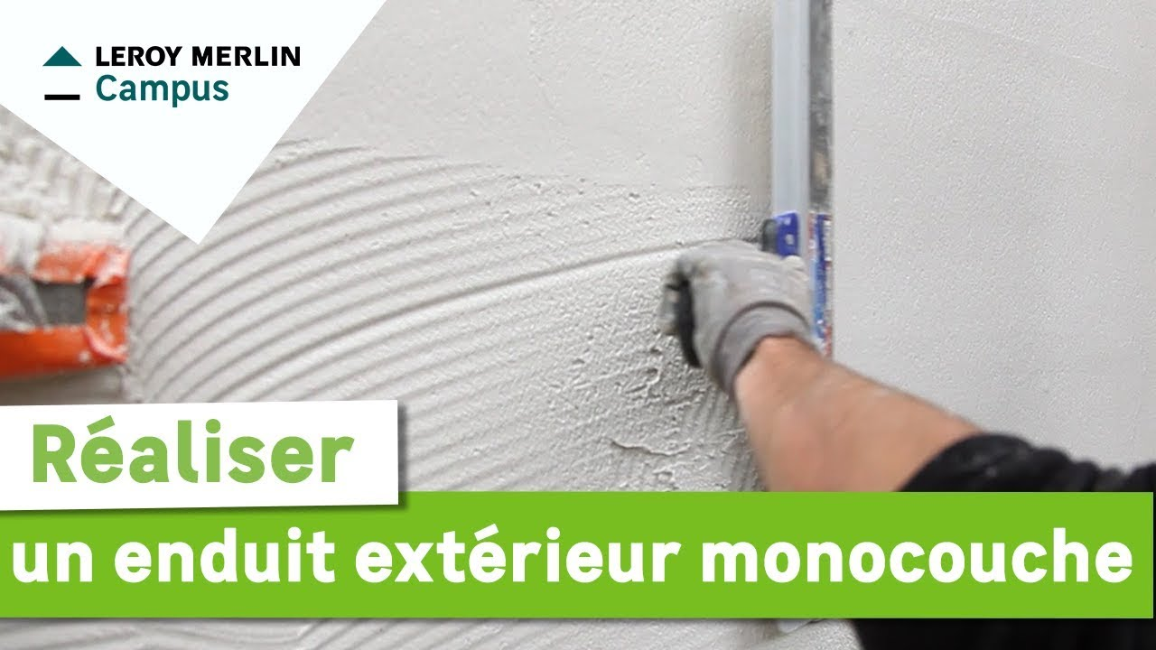 Comment r aliser un enduit ext rieur monocouche leroy merlin youtube - Comment poser enduit de lissage ...