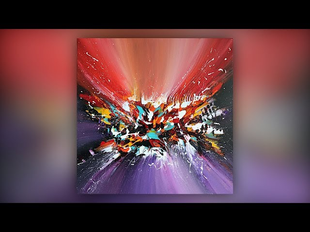 Colorful Abstract Painting / Acrylic Paint / Palette Knife Technique / Demo #038