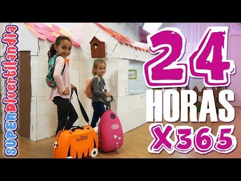 24 HORAS En Mi CASITA De CARTÓN X 365 Días! SUPERDivertilandia.