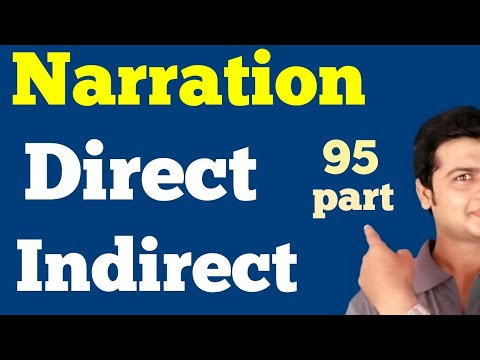 Narration | Direct & Indirect Speech | Tricks To Learn Narration | Change Direct  Into Indirect 95
