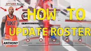NBA 2K18 | How to UPDATE ROSTER (PC)
