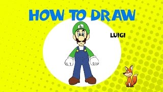 How to draw Luigi - STEP BY STEP - DRAWING TUTORIAL