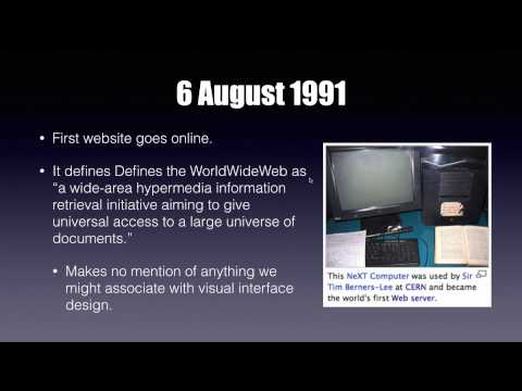 Lecture: History of the Internet and the World Wide Web (2015)