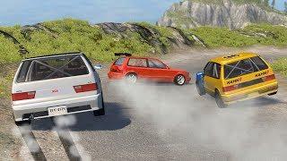 Beamng drive - Touge Race car Crashes