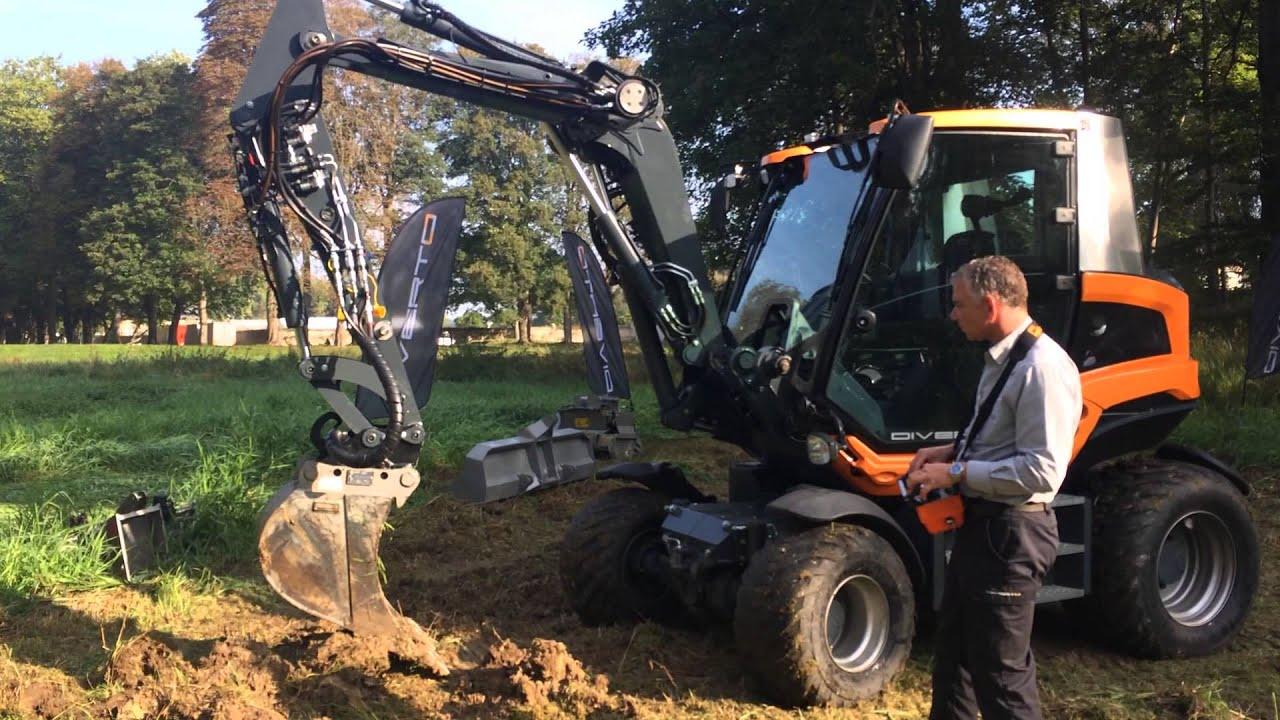 Diverto diverto qs 100 un tracteur porte outils compact for Outillage espace vert