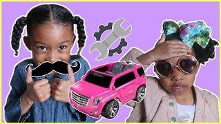 Pretend Power Wheels Mechanic | Sekora & Sefari Pretend Play