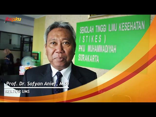 Ucapan selamat dari Rektor UMS atas di resmikannya ITS Muhammadiyah Surakarta