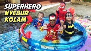 Superhero Nyebur Kolam Main Air   Kids Pool Fun