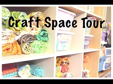 Craft Room Tour: Organizing Journal Supplies: Studio Tour