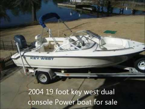 2004 19 foot key west dual console Power boat for sale. Chapin, SC.  $11,900. - YouTube