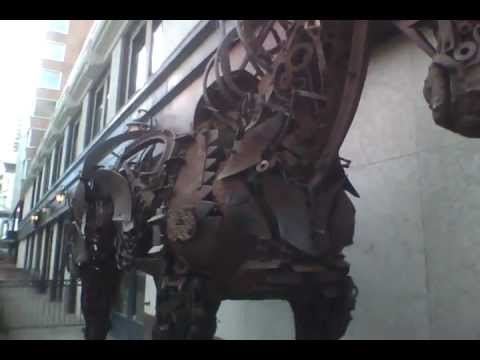 Calgary Art Display - Steel Horse & Windbreakers