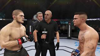 Khabib Nurmagomedov vs. Dustin Poirier  (EA Sports UFC 3) - CPU vs. CPU