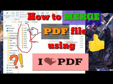 How to Merge PDF file using I LOVE PDF