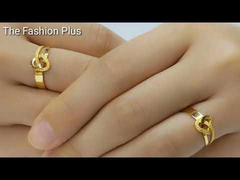 Twin Gold Wedding Rings Designs