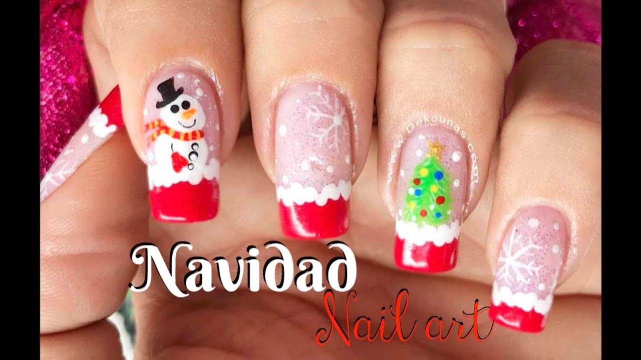 Diseño De Uñas Navidad Christmas Nail Art