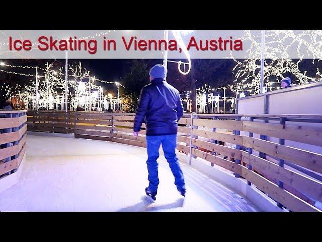 Ice Skating in Vienna, Austria