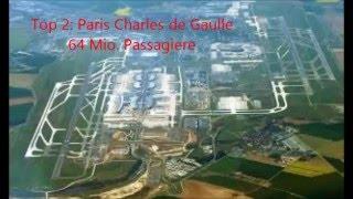 10 größten Flughäfen Europas