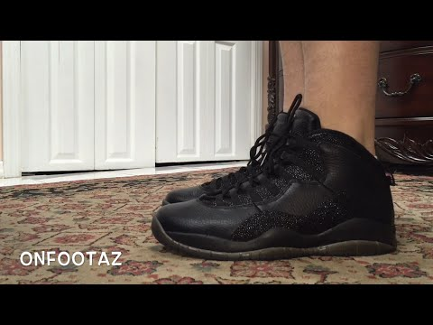 online store 445b0 870a9 Air Jordan 10 X OVO Black On Foot