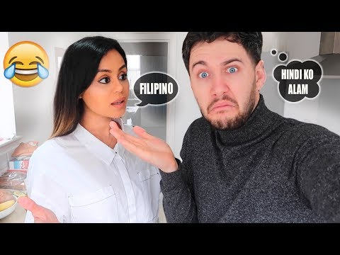SPEAKING ONLY FILIPINO TO MY BOYFRIEND FOR 24 HOURS!!!