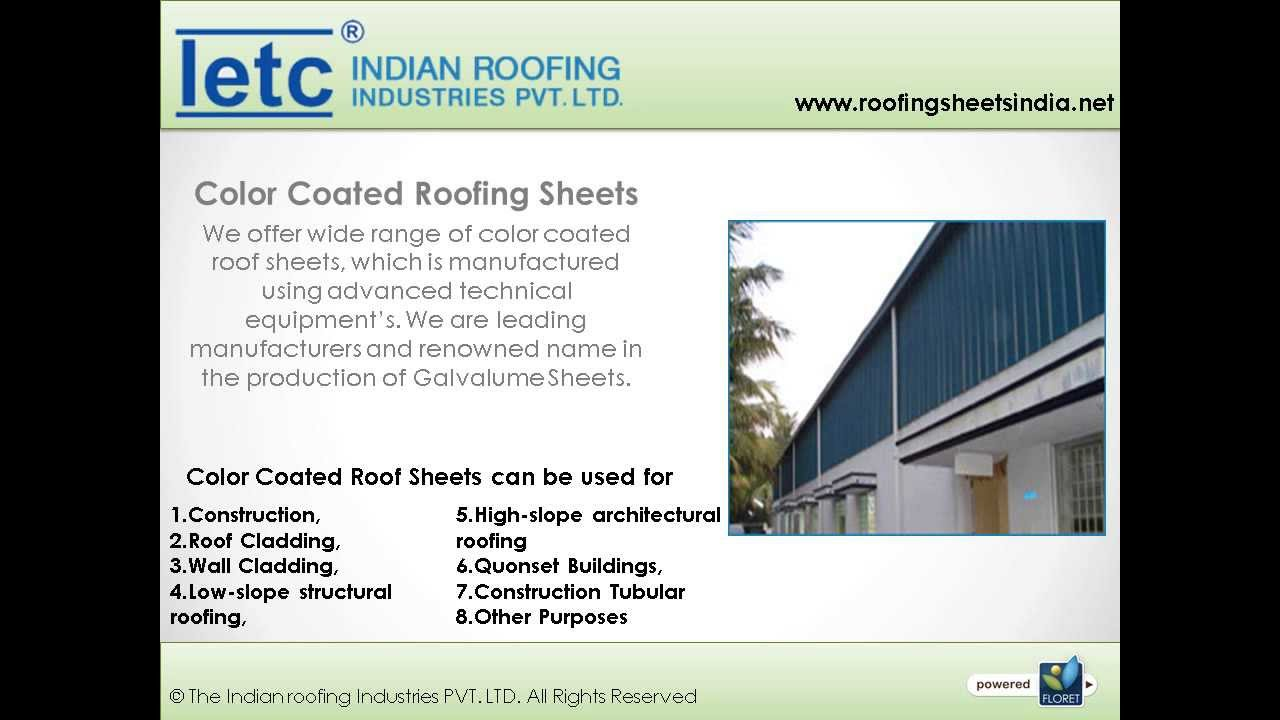 Steel Roofing Sheets Manufacturers Tirupur, India