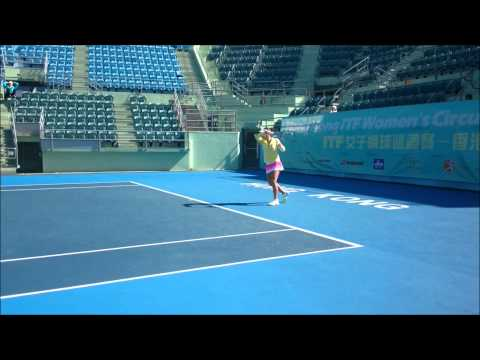 Match warmup demonstration by Hong Kong Tennis Coach Center