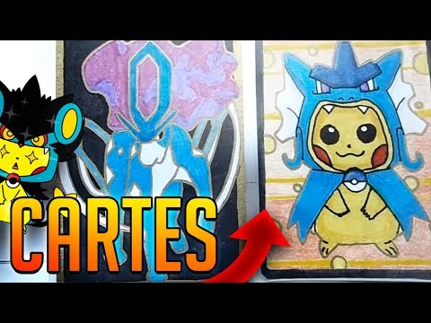 Tuto comment dessiner sa propre carte pokemon youtube - Dessiner pokemon ...