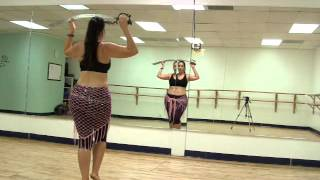 Belly Dance Sword Combo - Travelling into a Head BalanceSword