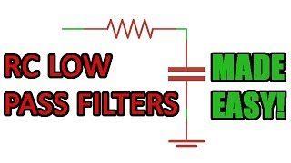 Passive RC low pass filter tutorial!
